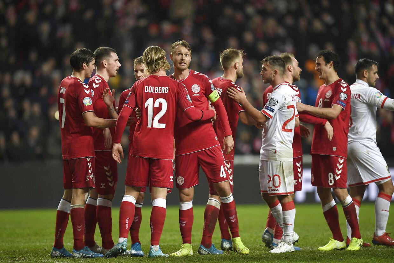 Danmark vandt fredag med 6-0 over Gibraltar og har nu EM-matchbold.