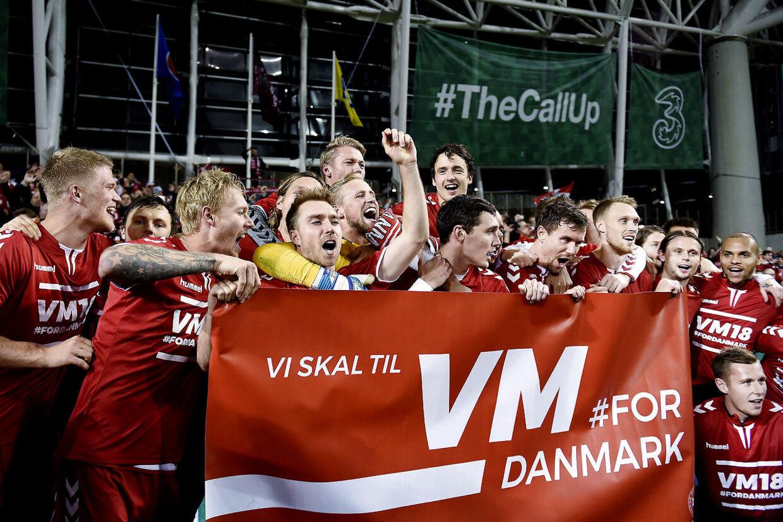 Sådan så det ud, sidste gang det danske landshold var i Dublin.