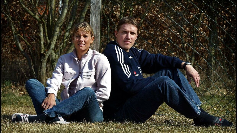 Conny Hamann-Boeriths og manden, Rene Hamann-Boeriths, der også er tidligere håndboldspiller.