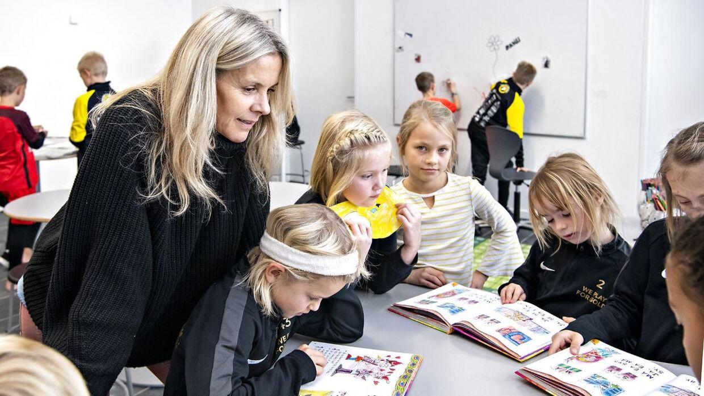 Conny Hamann underviser på 'Guldminen' i Ikast, som er en friskole.