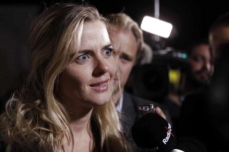 FOLKETINGSVALG2011. Ellen Trane Nørby ankommer til Venstres valgfest i Mogens Dahls koncertsal på Bryggen torsdag d. 15. september 2011. (Foto: Nils Meilvang/Scanpix 2011))