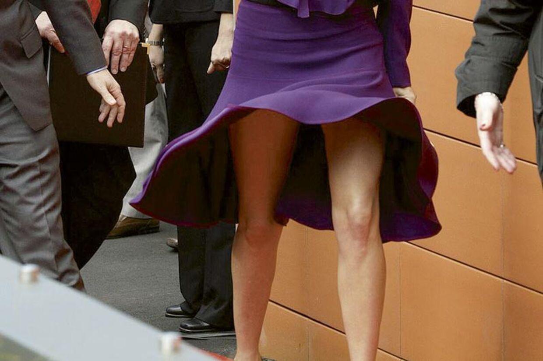 Det er de her ben, bt.dk's brugere har kåret til de bedste. Her ses de i en ren 'Marilyn Monroe' under et besøg i Sydney i 2008.