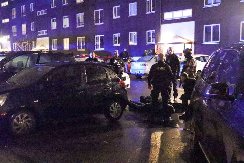Københavns Vestegns Politi i gang med en aktion i Herlev torsdag den 21. november 2019. Københavns Vestegns Politi i gang med en aktion i Herlev torsdag den 21. november 2019.