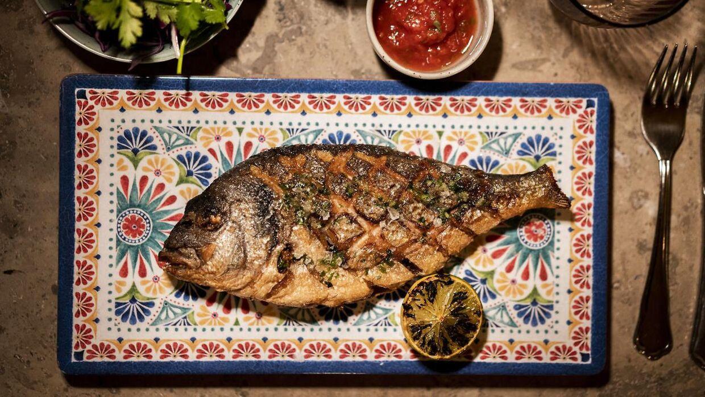 """Madklubbens nye latinamerikanske restaurant """"Roberta"""" er blevet anmeldt. Her er er det helstegt dorade."""