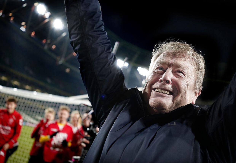 Danmarks Landstræner Åge Hareide efter EM kvalifikationskampen på Aviva Stadium i Dublin mandag den 18 november 2019