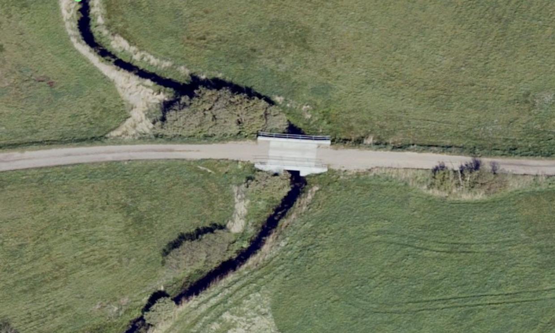 Den nye, dyre bro for skatteydernes penge. Foto: Kortforsyningen.