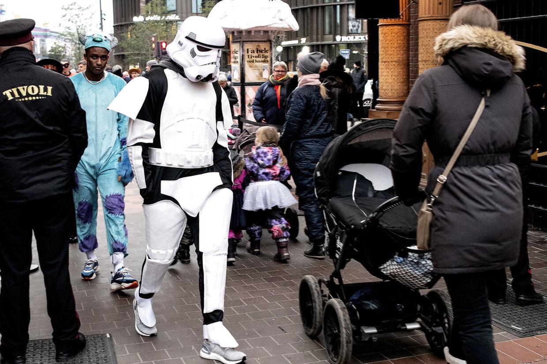Stormtrooperen, der ifølge B.T.s oplysninger er Kasper Schmeichel.