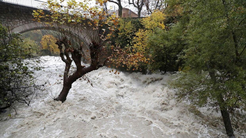 Oversvømmelse i det sydlige Frankrig. Arkivfoto.