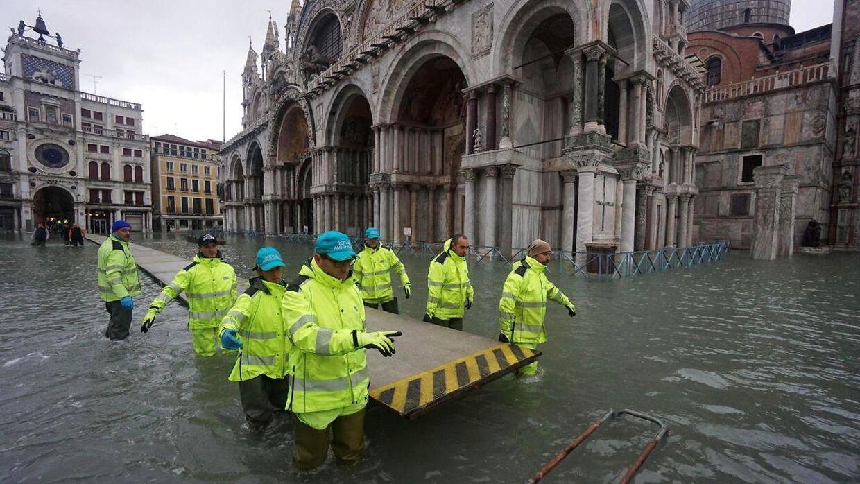 Oversvømmelse i Venedig. Arkivfoto.