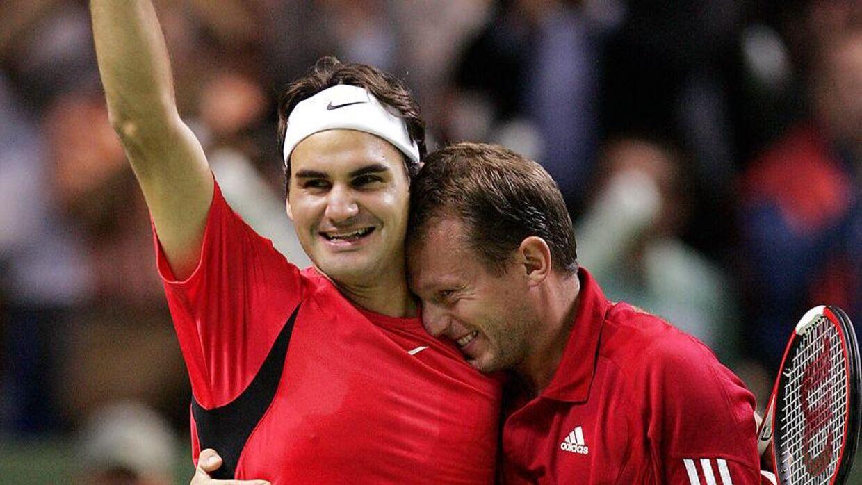 Roger Federer og Yves Allegro fejrede store triumfer sammen.