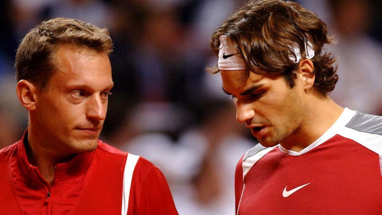 Yves Allegro og Roger Federer spillede double sammen.