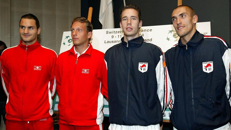 Roger Federer og Yves Allegro var doublemakkere.
