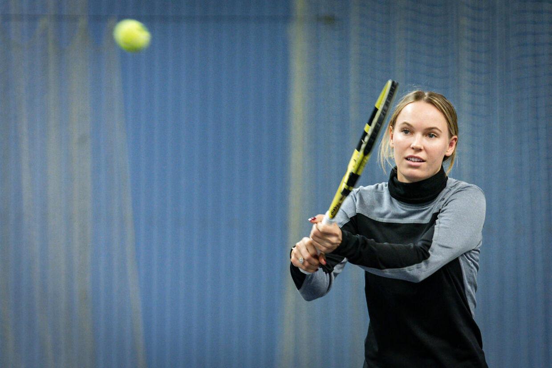 Caroline Wozniacki spiller tennis med anbragte børn på KB's tennis baner på Frederiksberg, tirsdag den 26. november 2019