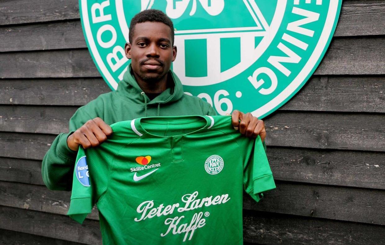 Sådan præsenterede 1. divisionsklubben Viborg FF 5. november 2020 nyindkøbte Bernio Verhagen.