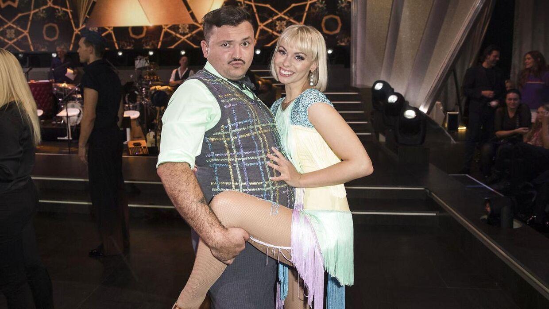 Umut Sakarya og Jenna Bagge inden kokken valgte at forlade 'Vild med dans'. (Foto: Scanpix)