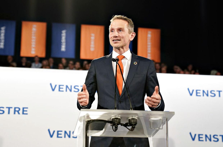 Kristian Jensen hyldes ved Venstres landsmøde i Herning Kongrescenter, lørdag den 16. november 2019.