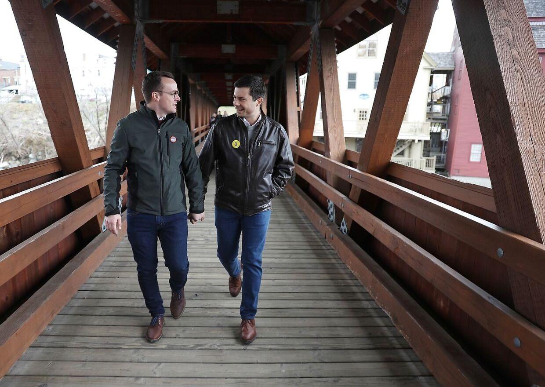 Pete Buttigieg og hans ægtemand Chasten Glezman Buttigieg. De to blev gift i 2018