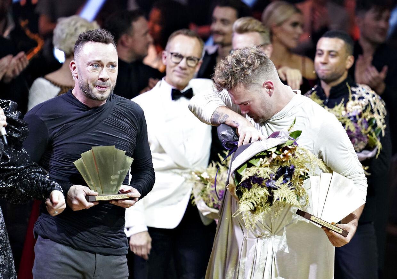 """Jakob Fauerby og Silas Holst vinder finalen i """"Vild med dans"""" i Forum Horsens, fredag den 28. november 2019.. (Foto: Henning Bagger/Ritzau Scanpix)"""