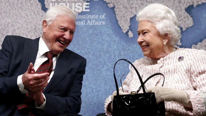 Sir David Attenborough har i mange år haft et nært forhold til britiske dronning Elizabeth. Ved denne lejlighed hædrer hun ham med en miljøpris.
