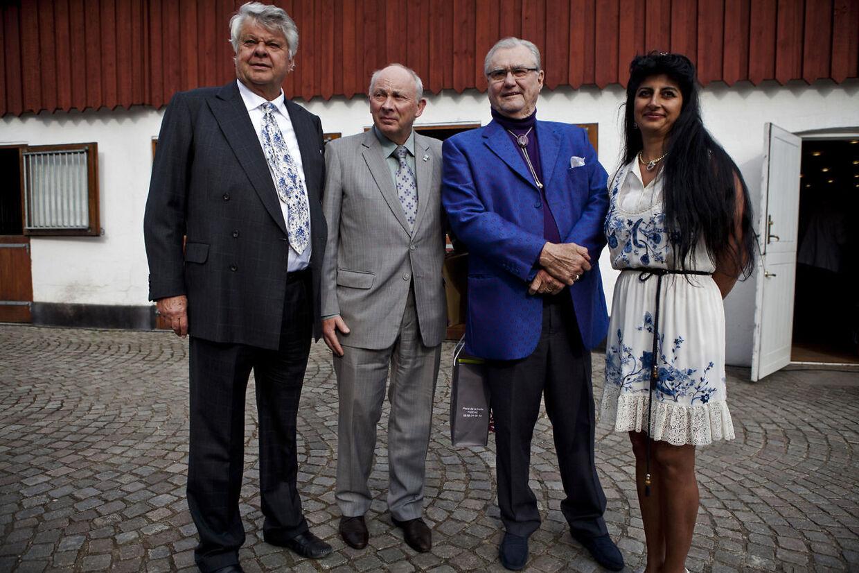 Christian Kjærses her med prins Henrik og Susan Astani, da han blev 70 år.