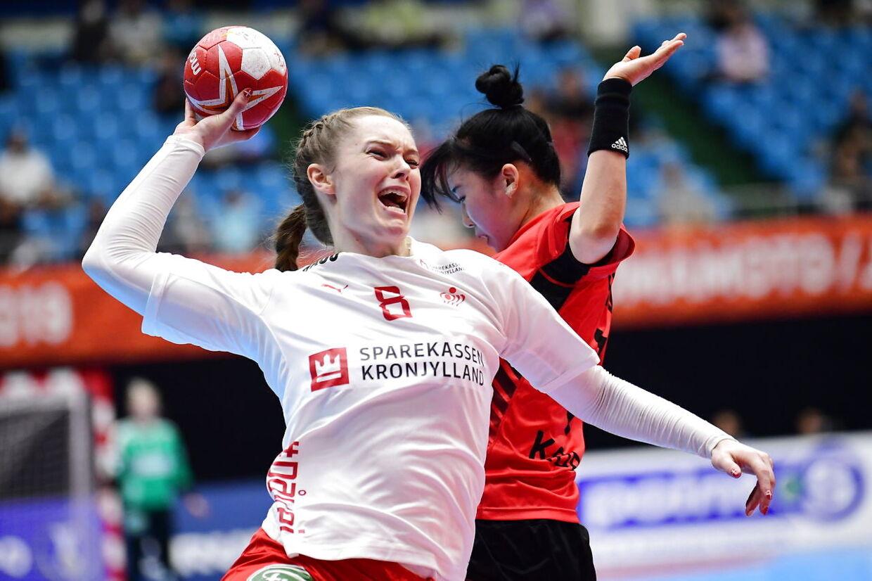 Danmark møder Sydkorea, i den indledende runde i Gruppe B, under Kvindernes Håndbold VM i Kumamoto Prefectural Gymnasium i Japan, søndag den 1. december 2019.