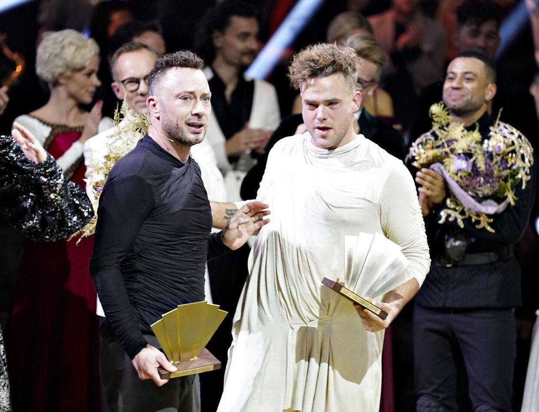 Jakob Fauerby og Silas Holst vandt finalen i 'Vild med dans' i Forum Horsens, fredag den 28. november 2019.