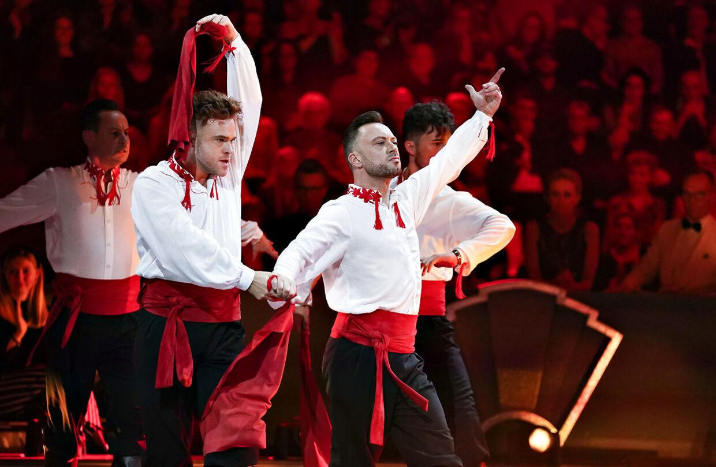 Jakob Fauerby og Silas Holst viste blandt andet deres gode skuespilevner i deres dramatiske finale-paso doble.