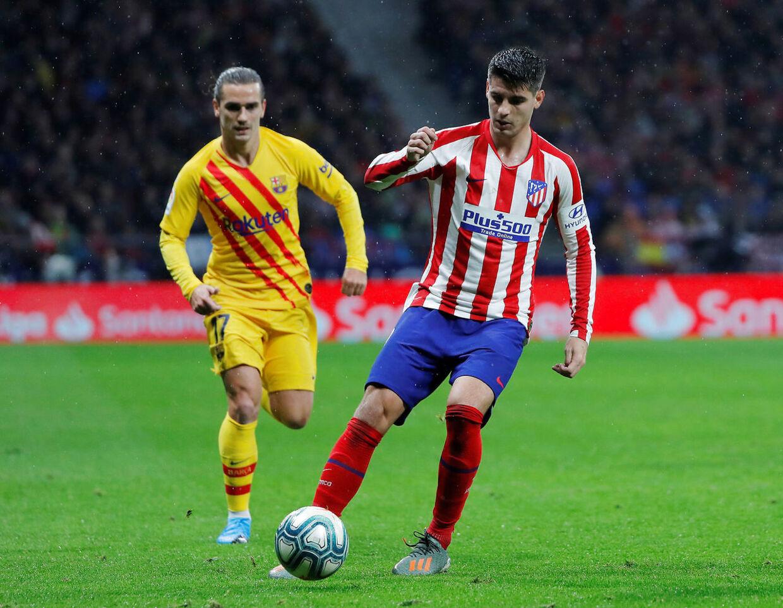 Søndag var Antoine Griezmann i aktion mod sin tidligere klub Atlético Madrid.