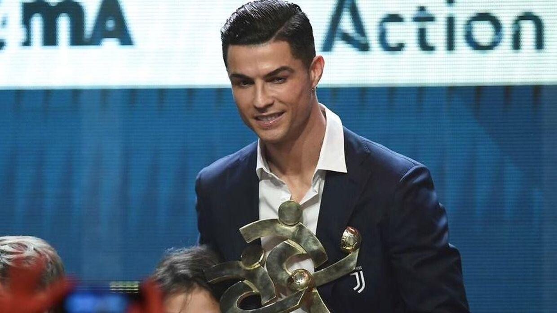 Ronaldo blev mandag kåret til årets spiller i Italien.