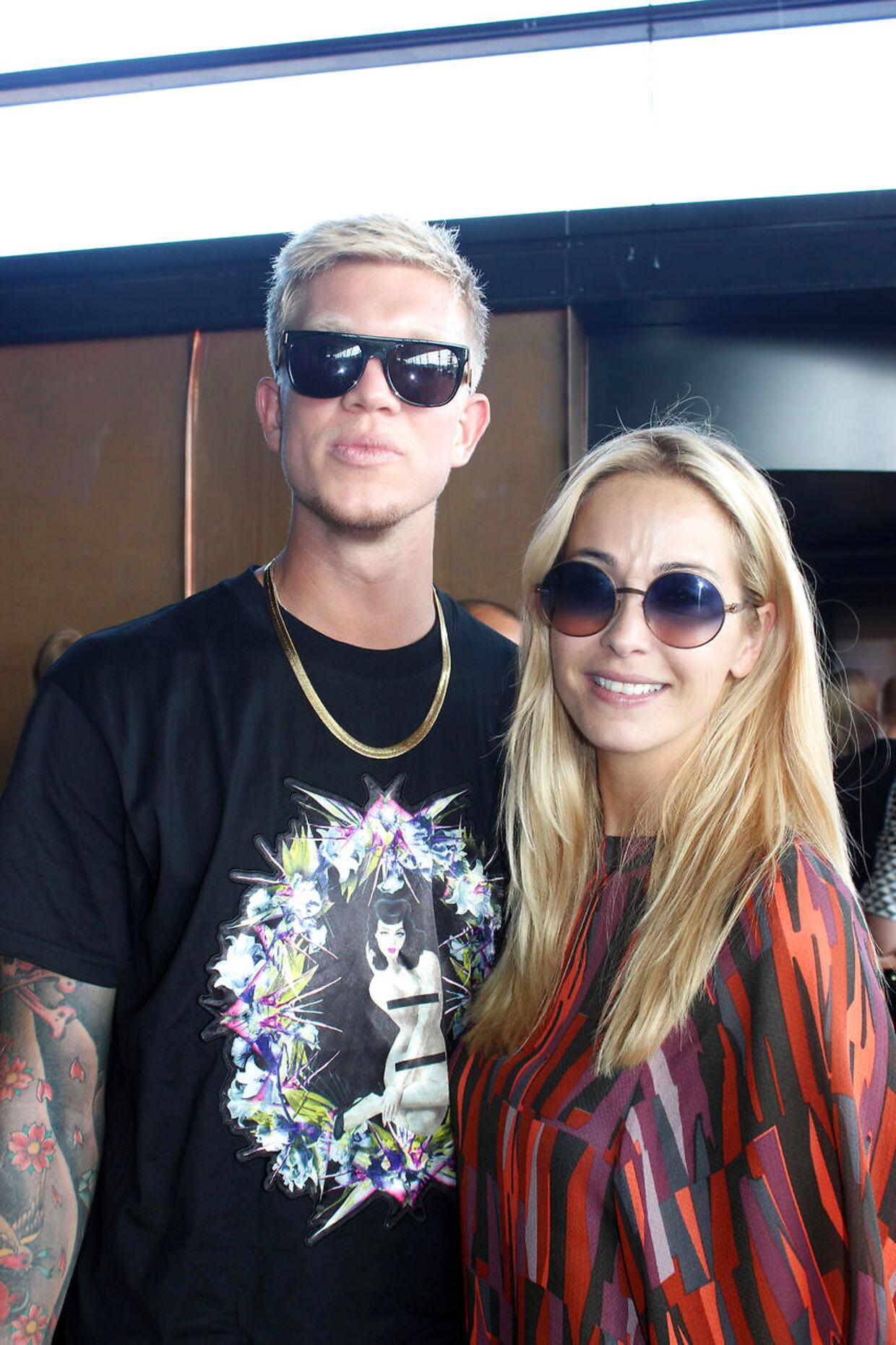 Ibi Makienok og Simon Makienok til modeuge i København i 2013, som også var året, de blev kærester.