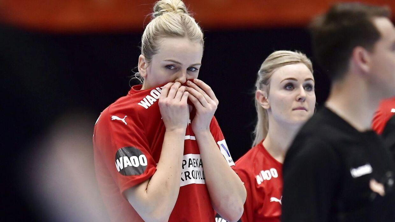 Stine Jørgensen var tydeligt skuffet efter kampen mod Frankrig.