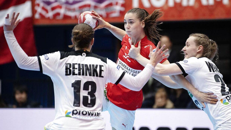 Mie Højlund gjorde atter en god figur mod Tyskland.