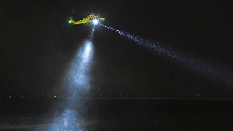Man brugte også en helikopter under eftersøgningen.