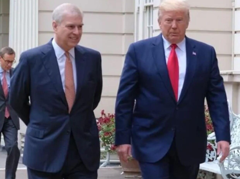 Den amerikanske præsident har mødt den britiske prins Andrew ved flere lejligheder. Her ses de under statsbesøget i London i sommer.