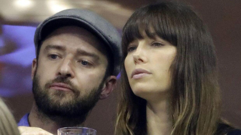 Justin Timberlake med sin hustru, skuespillerinden Jessica Biel.