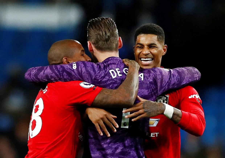 Manchester United slog rivalerne fra City 2-1.