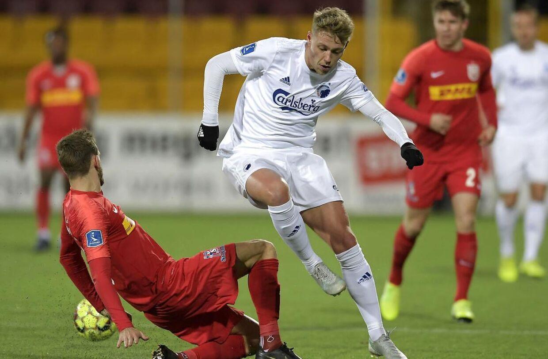 Viktor Fischer og FCK vandt en kneben sejr i Farum.