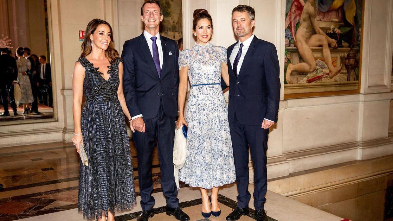 Prins Joachim og prinsesse Marie sammen med kronprins Frederik og kronprinsesse Mary i forbindelse med en middag på rådhuset i Paris den 8. oktober 2019.