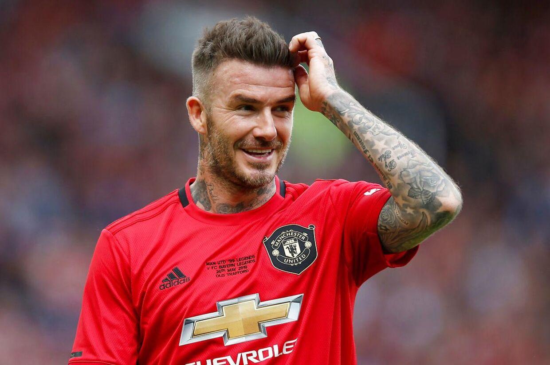 David Beckham spillede næsten 400 kampe i den røde Manchester-trøje.