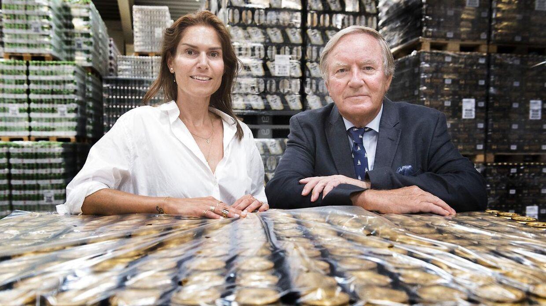 Harboe Bryggeri i Skælskør. Bernd Griese Harboe og datteren Karina Harboe Laursen