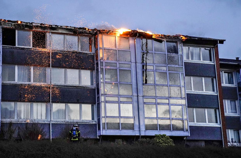 Brand i etageejendom på Stodal i Hobro, 8. december 2019.