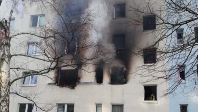 Mindst 25 mennesker er kommet til skade ved en eksplosion i en ejendom i Blankenburg i Harzen.