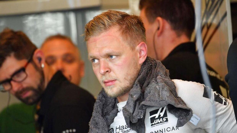 Kevin Magnussen er ikke blandt teamchefernes top 10 over kørere i 2019. (Photo by Giuseppe CACACE / AFP)