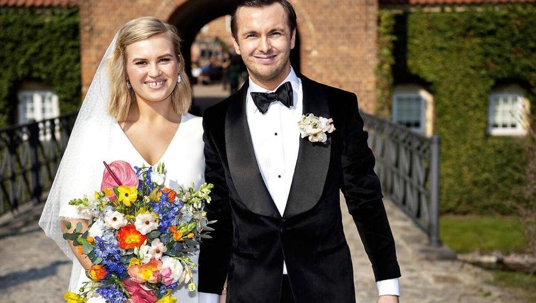 Rebecca Laudrup blev i starten af april gift med kæresten gennem flere år, Frederik Svejborg.