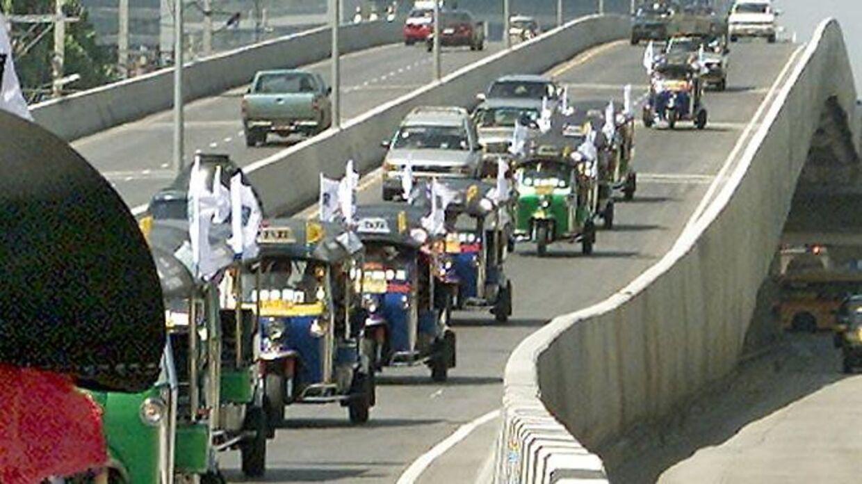 Trafik i Pattaya, Thailand. Arkivfoto.