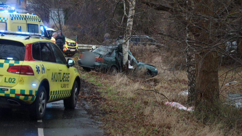 En alvorlig ulykke har fundet sted i Værløse.