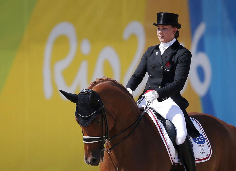 Cathrine Dufour på hesten Cassidy ved OL i Rio 2016.