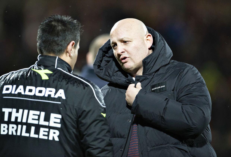 AGF's sportschef Peter Christiansen, billedet, fik søndag forhandlet en kontraktforlængelse med klubbens cheftræner David Nielsen på plads.