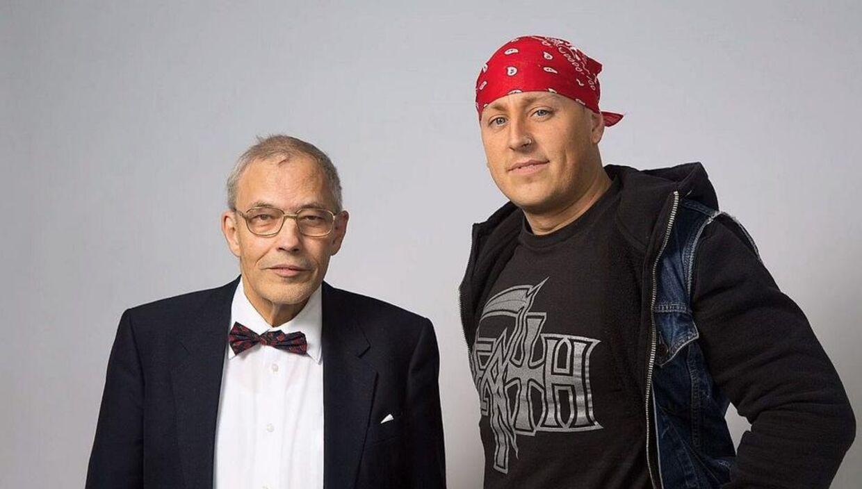 Fysiker Holger Bech Nielsen og realitystjerne, Sidney Lee. Foto: Radio24syv-presse.