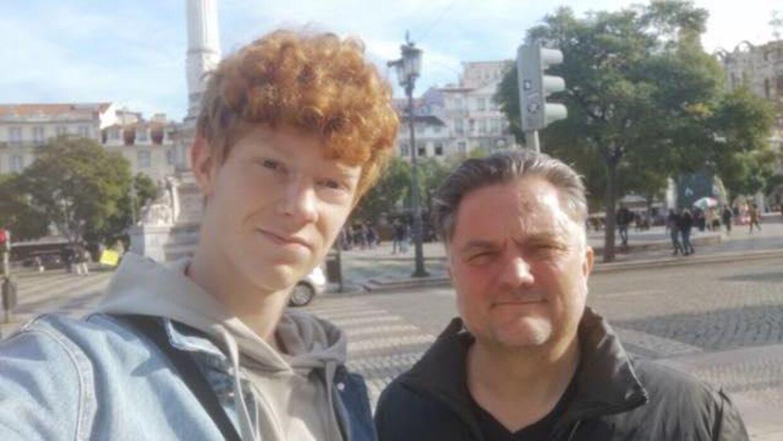 Kristian og William i Lissabon tirsdag eftermiddag